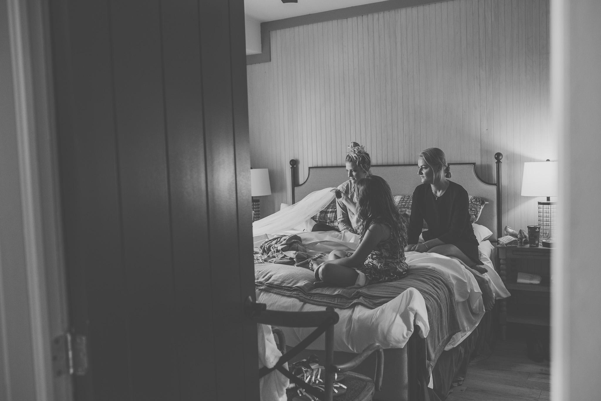 cottage wedding, keene, ontario, cottage, quiet wedding, wedding on the lake, toronto photographer, toronto photography, northumberland county, port hope photographer, port hope wedding photographer, toronto wedding photographer, bride, groom, summer wedding, peterborough wedding, peterborough wedding photography, peterborough wedding photographer, keene wedding, keene wedding photographer, documentary wedding photography, documentary wedding photographer, candid wedding photography, cottage, trees, nature, veil, intimate wedding, bridesmaids, getting ready, window light, black and white